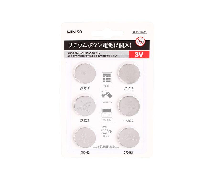 Литиевая батарея кнопочного типа (6шт) (цвет Нержавеющая сталь)