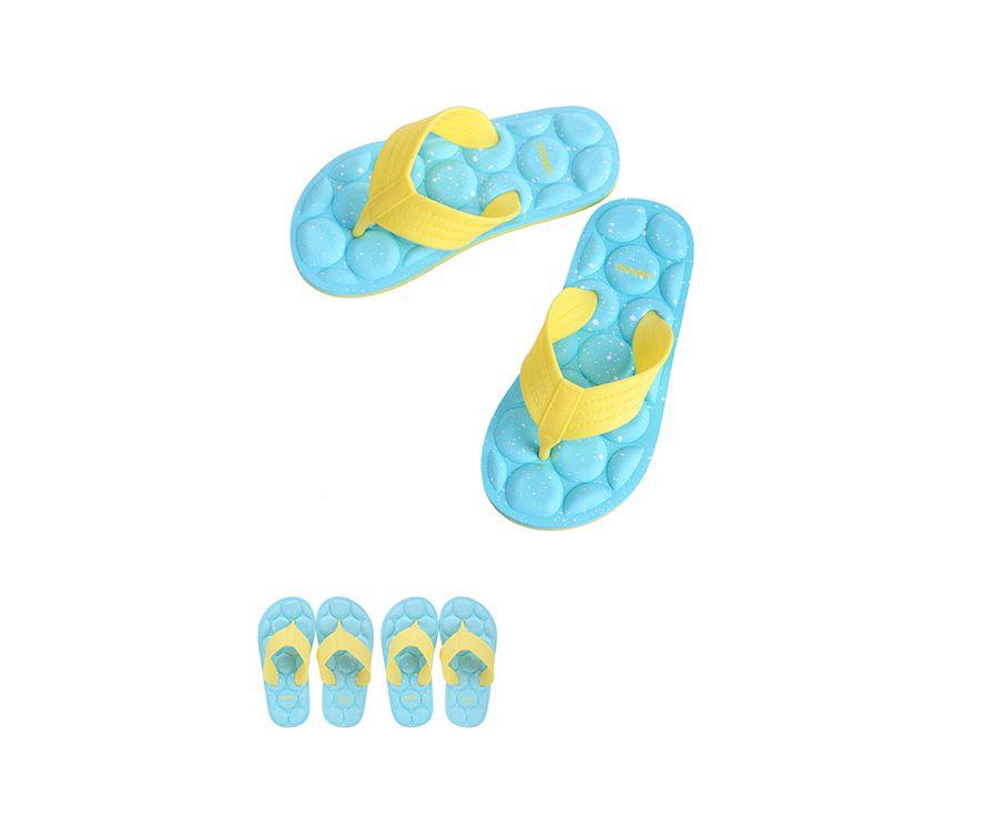 Шлепанцы спортивные детские, цвет желтый + синий, размер S (28 / 29)