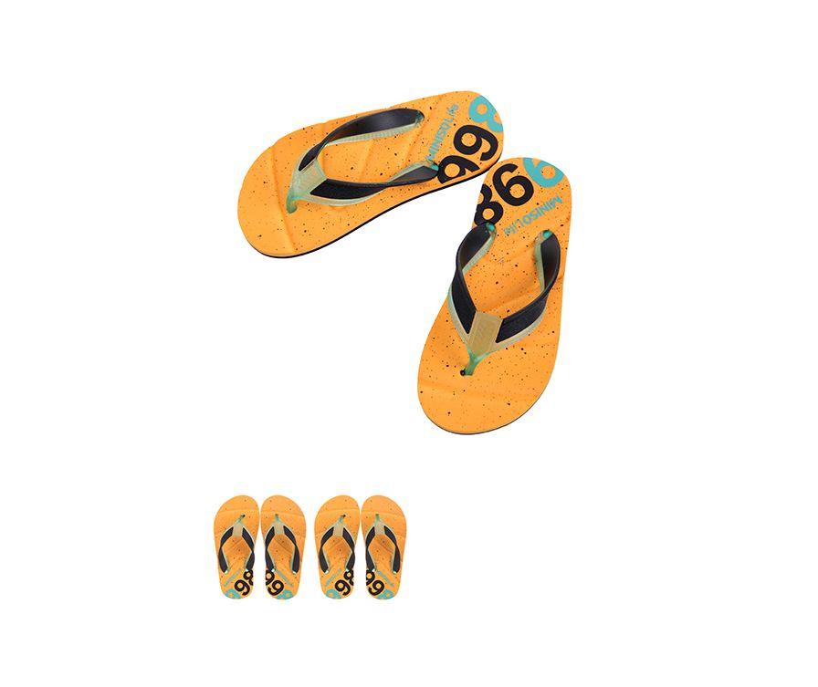 Детские шлепанцы S28 / 29 (черный + светло-синий + оранжевый)