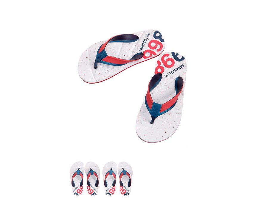 Спортивные детские шлепанцы S28 / 29 (красный + темно-синий + белый)