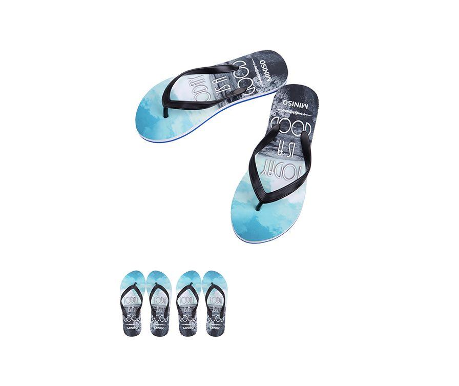 Женские шлепанцы S36 / 37 (черный + синий+белый)