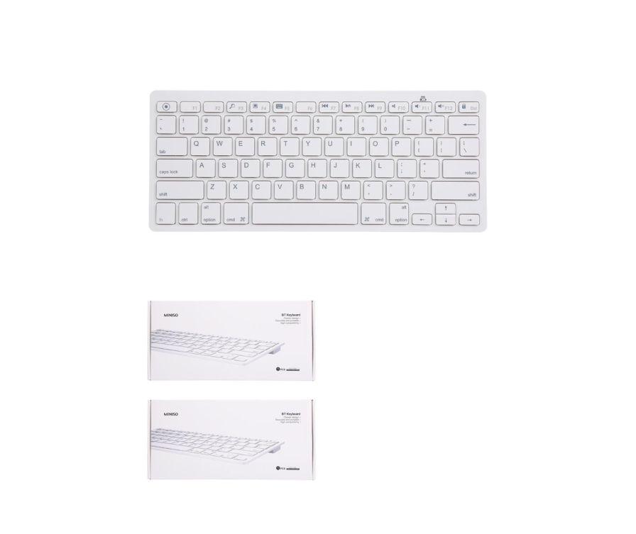 Ультратонкая BT клавиатура, цвет белый