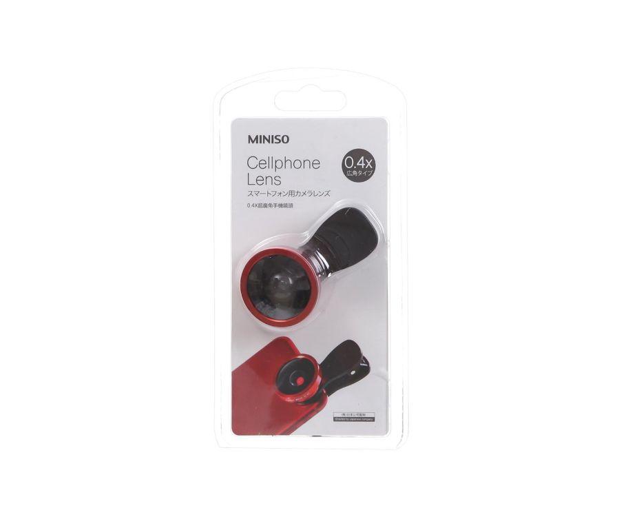 0,4X широкоугольный объектив для мобильного телефона (красный)