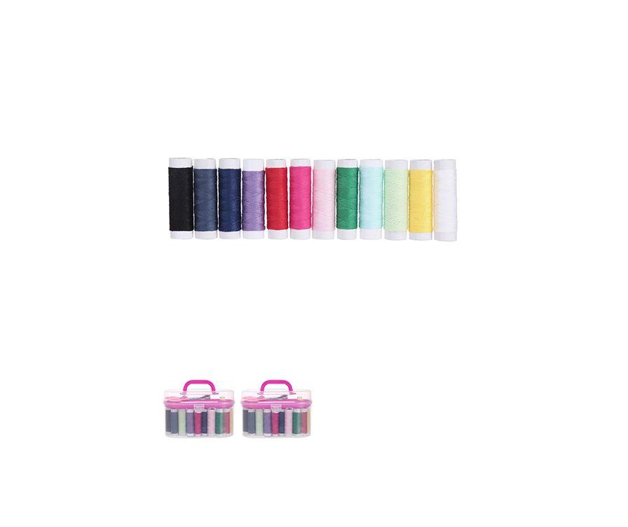 Коробка-набор для рукоделия, цвет розовый 15*11см