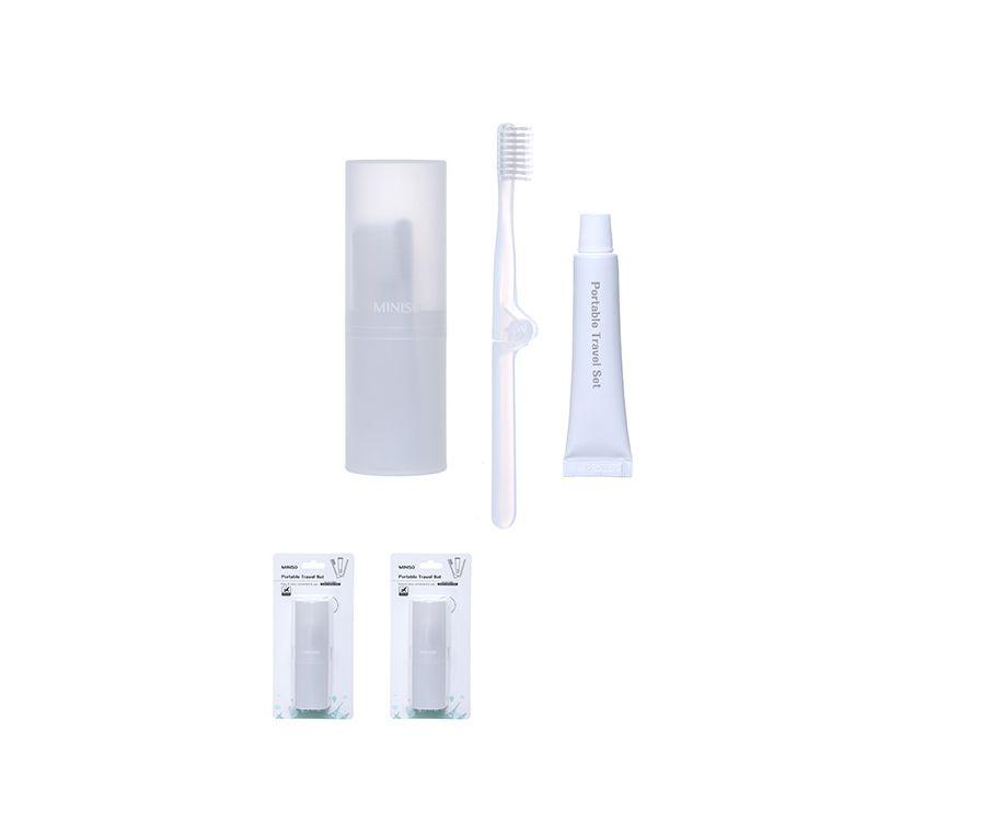 Портативный набор для путешествий(коробка + складная  зубная щетка + Зубная паста 10g)