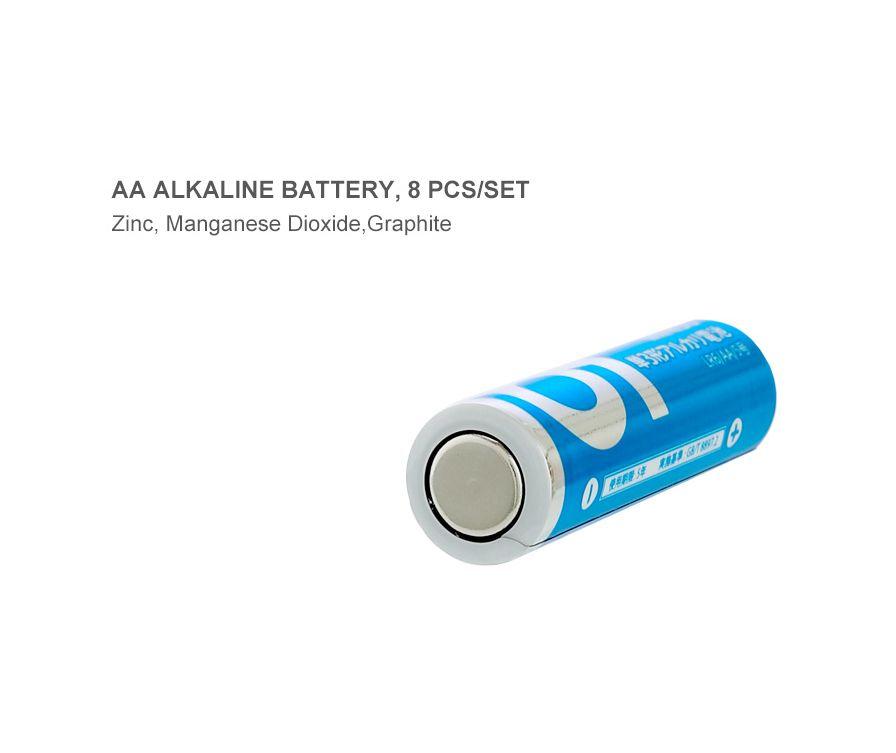Батарейки AA щелочные, LR6 / AA, комплект, 8 шт