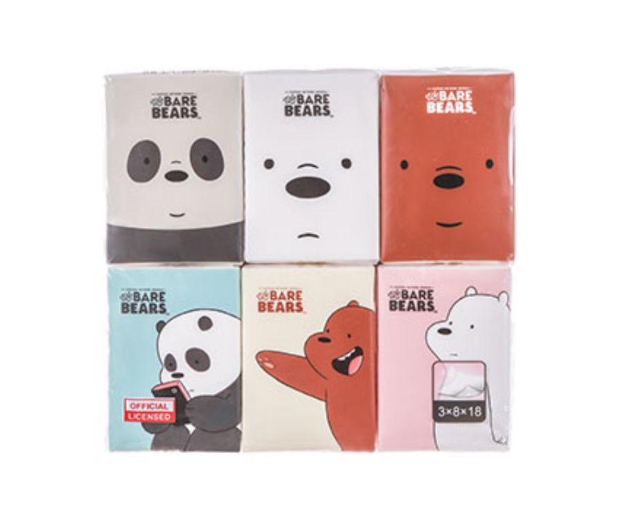 Салфетки, (8 листов * 3 слоя), серия We Bare Bears