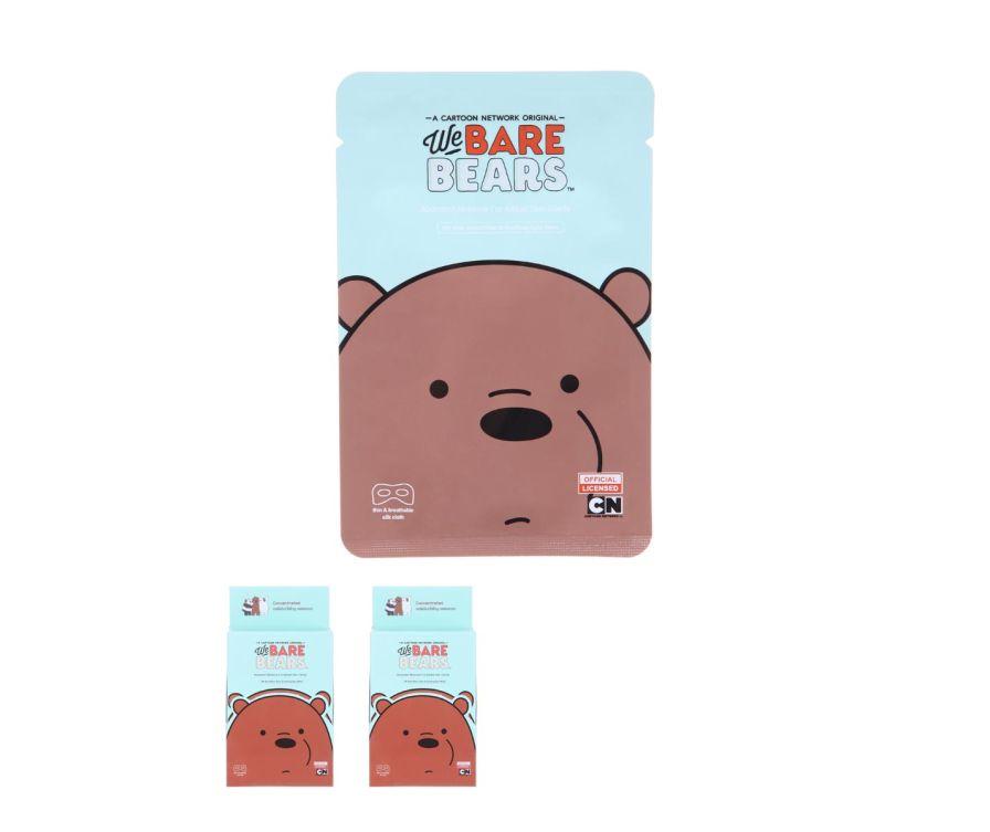 Маска для глаз Смягчение и Сияние, серия We Bare Bears
