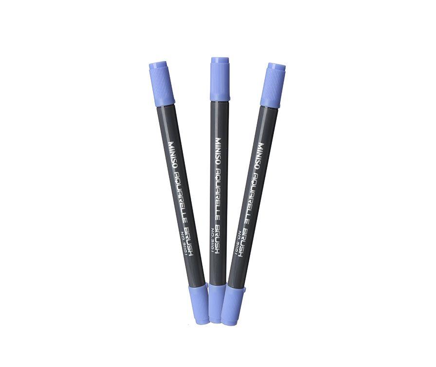 цветная ручка с двумя головками (розовый)