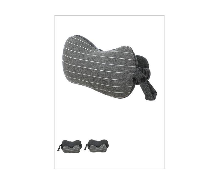 Подушка для шеи и маска для сна (темно-серый)