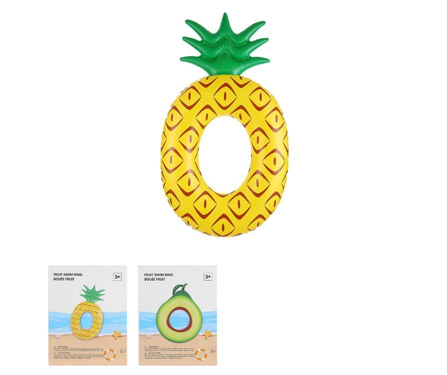 Круг для плавания с фруктовым принтом