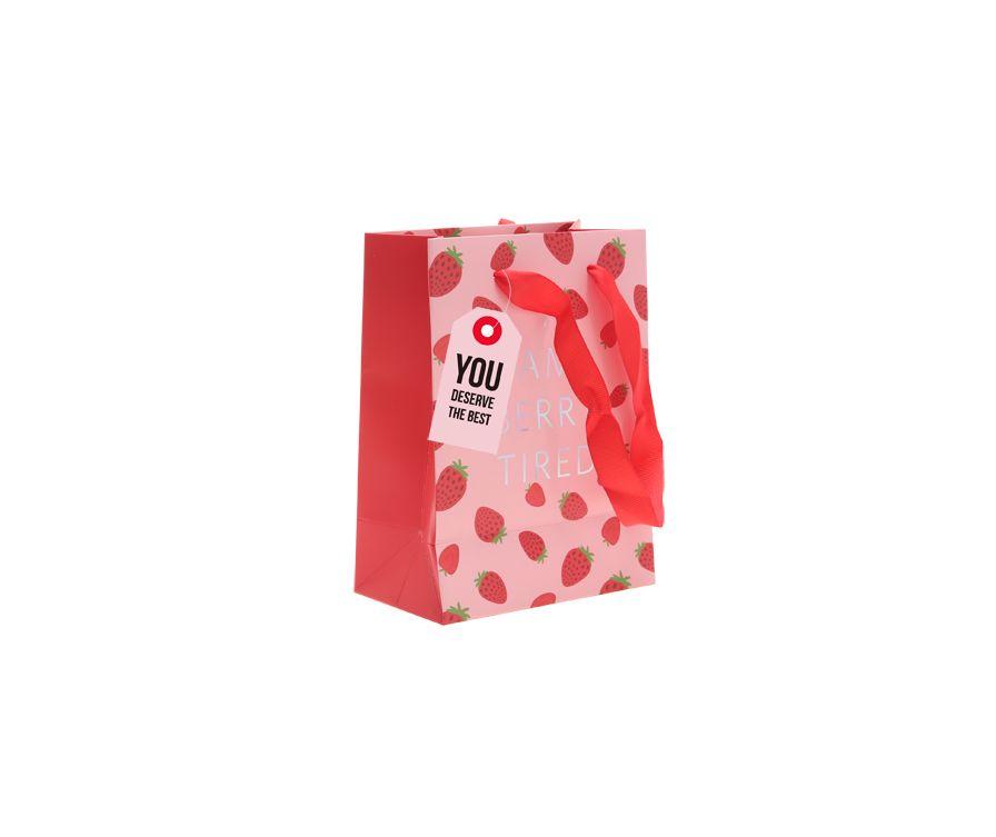 Бумажный пакет Клубника