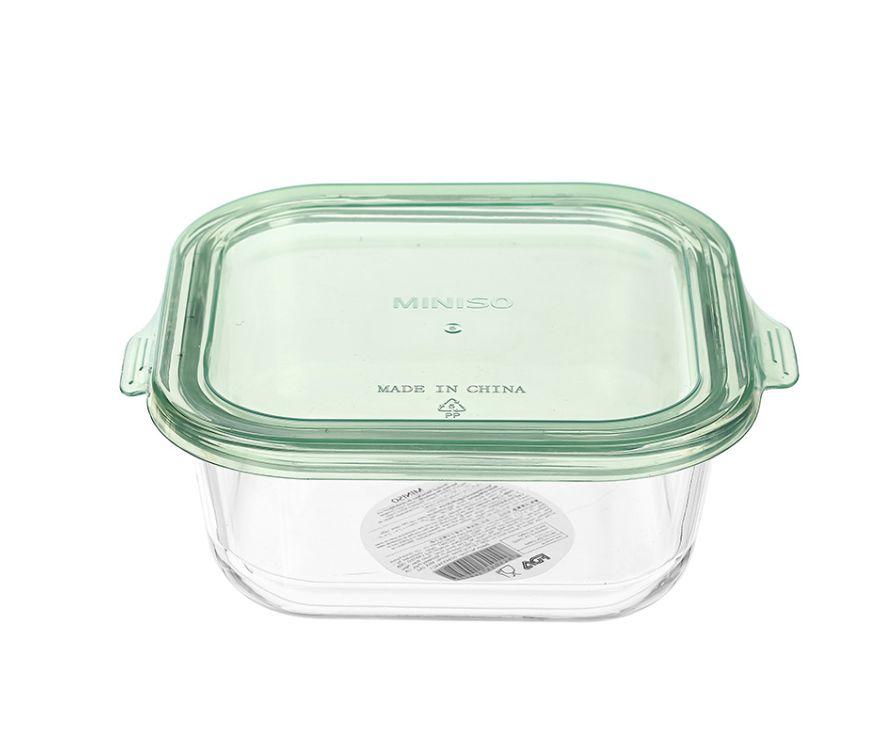 Стеклянный пищевой контейнер-320мл (зеленый)