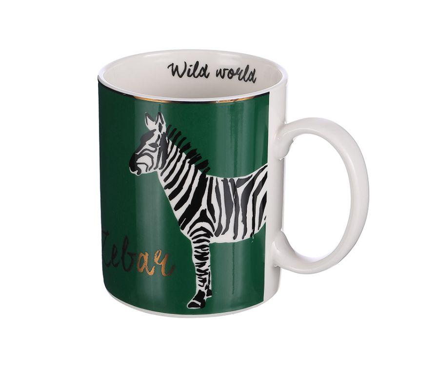Чашка с принтом зебра