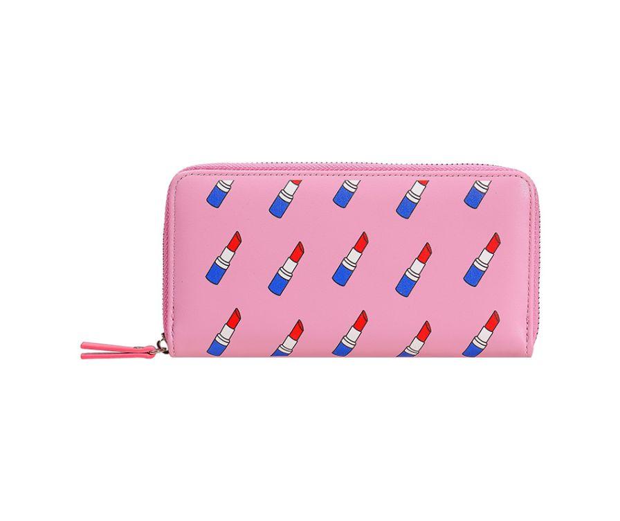 Длинный кошелек (темно-розовый)