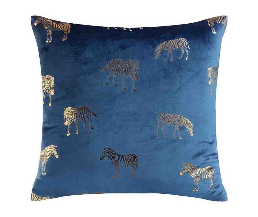 Подушка Зебра (Синяя)