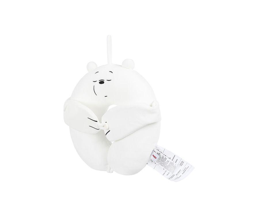U-образная подушка и маска для сна, серия We Bare Bears (белый медведь)