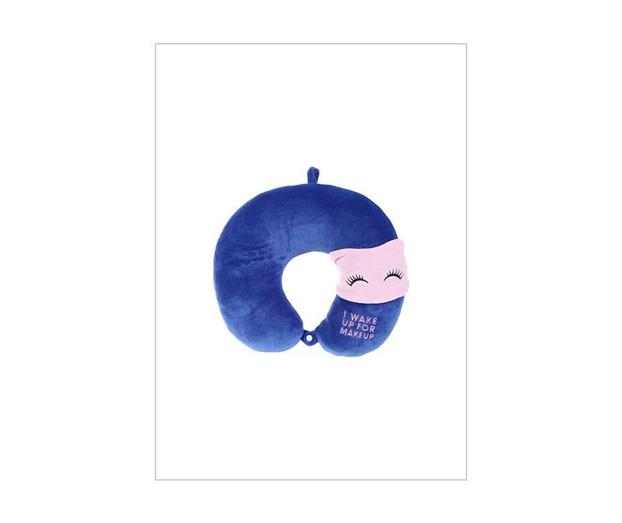 Маска для сна + U подушка (розовый)