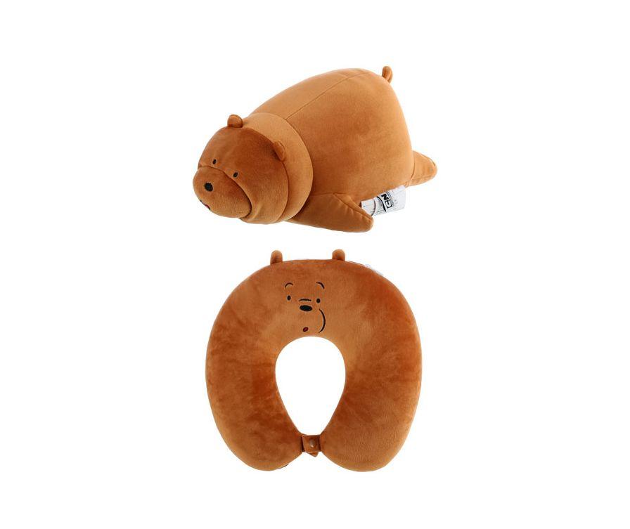 Подушка U-образная регулируемая  We Bare Bears (гризли)