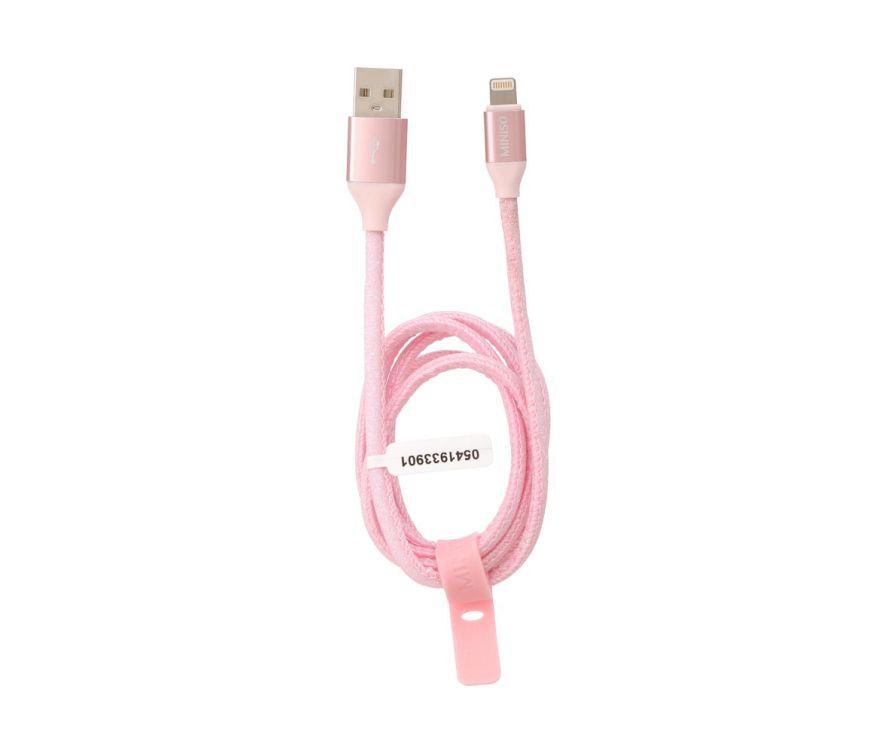 Зарядный кабель(розовый)