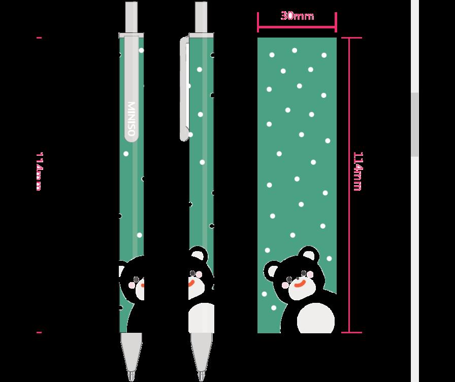 Ручка 0,38 мм (медведь)