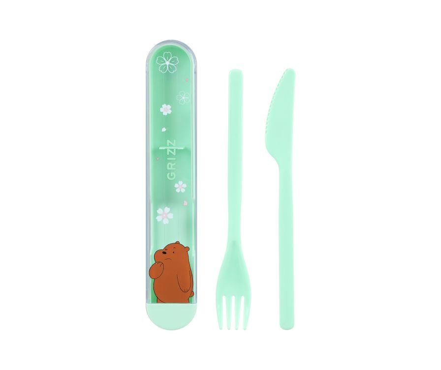 Набор столовых приборов, серия We Bare Bears - нож и вилка (Гризли)