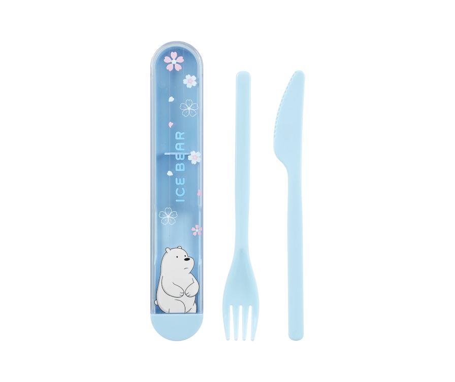 Набор столовых приборов, серия We Bare Bears - нож и вилка (Белый медведь)