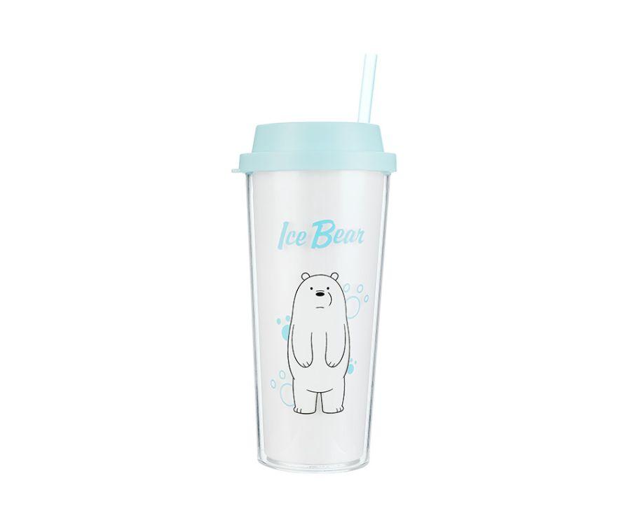 Двухслойная бутылка, серия We Bare Bears 550 мл (Белый медведь)