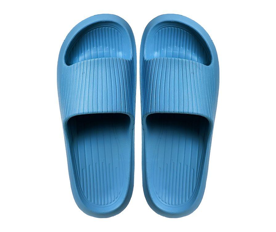 Мужские тапочки с мягкой подошвой в полоску (светло-синий, 41-42)