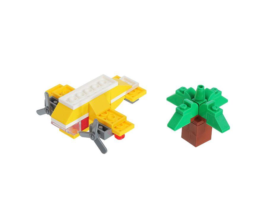 Игрушка строительные блоки, серия Транспорт (самолет)