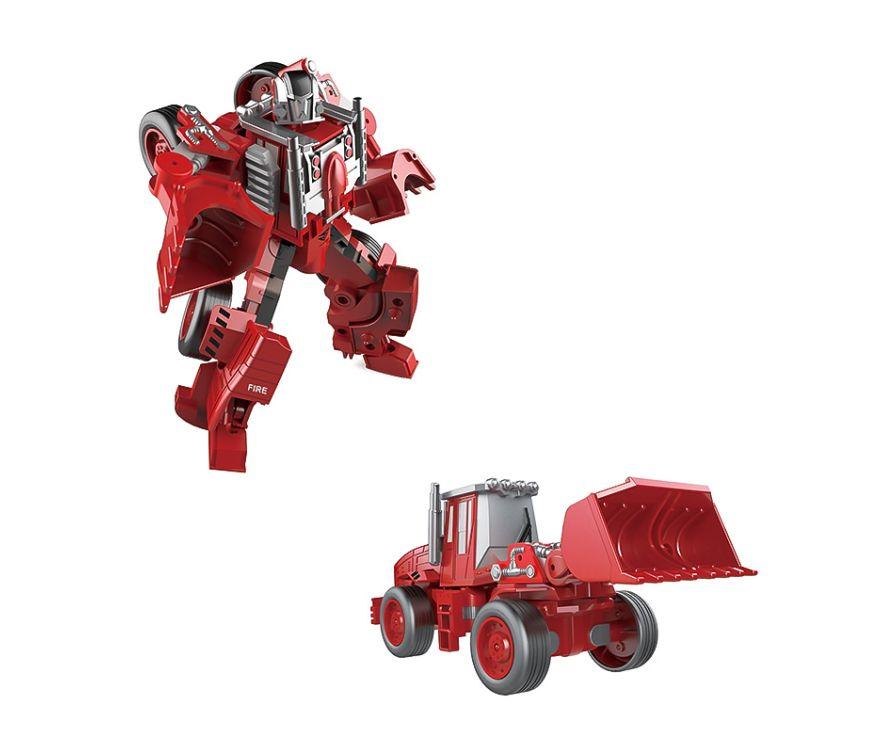 Игрушка Робот-трансформер (красный) (SY6278A-2, Бульдозер)