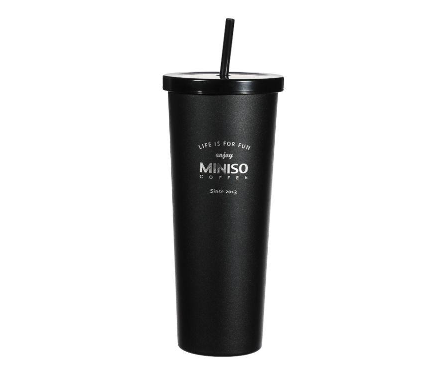 Стальной стакан, серия Classic Black & White, 800 мл (черный)
