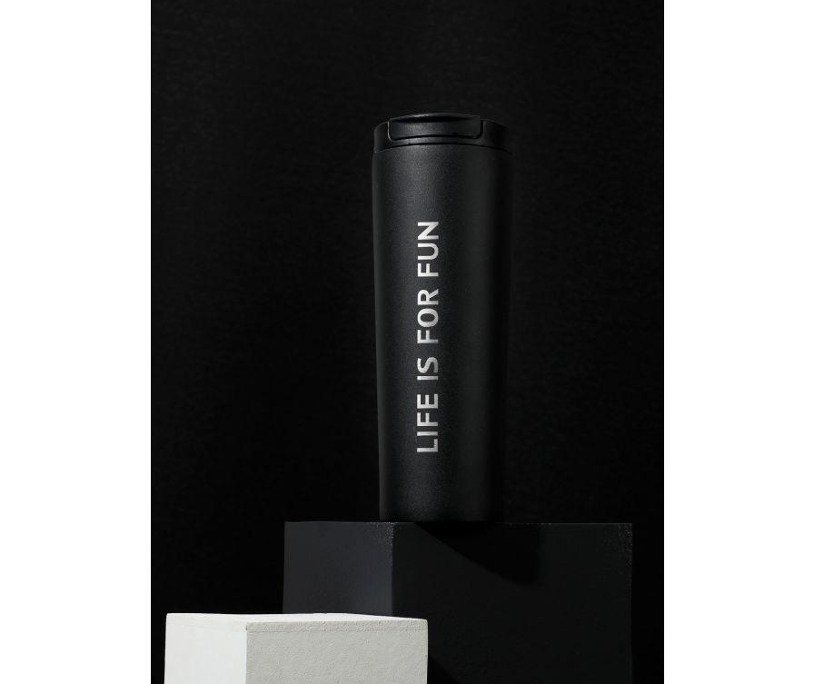 Стакан тамблер Classic Black & White Series, 530 мл (черный)