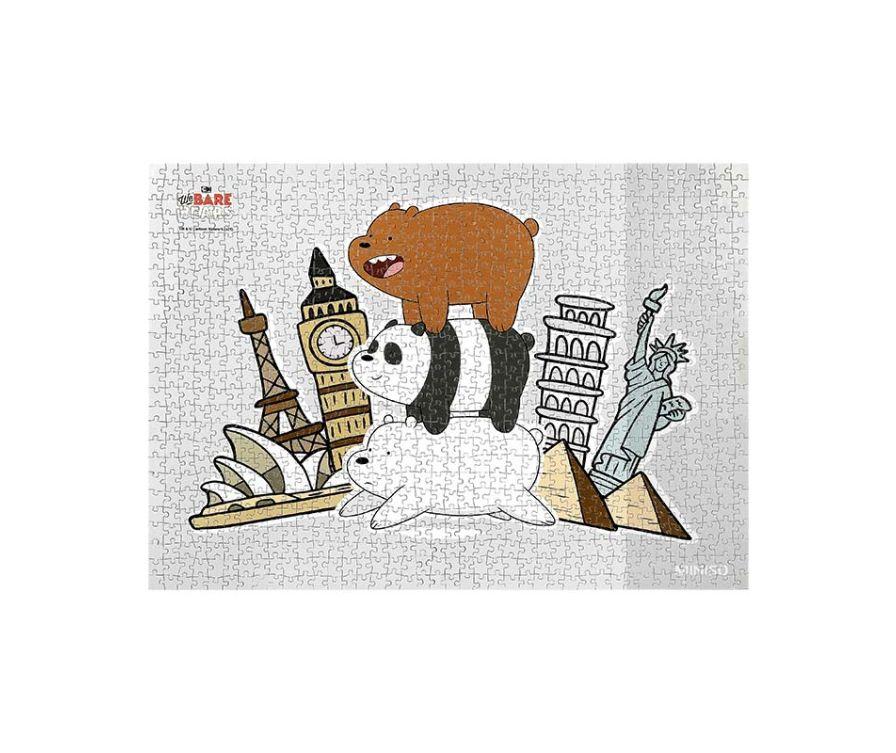 Игрушка Пазл We Bare Bears, 1000шт (Достопримечательности)