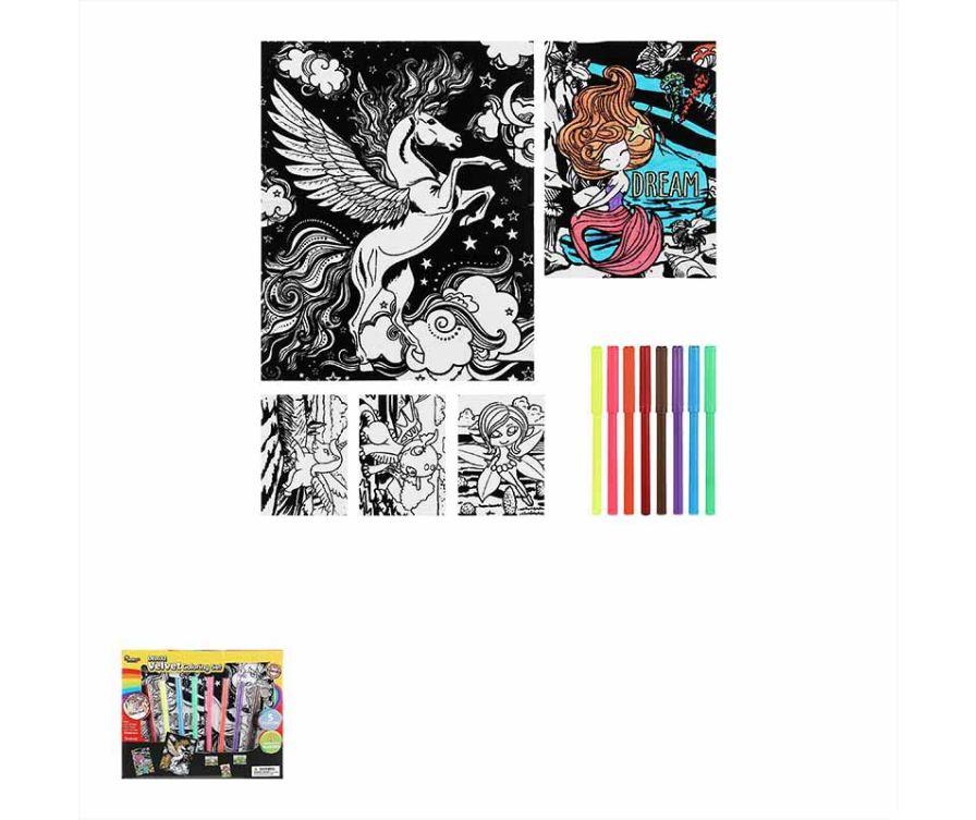 Раскраска  Velvet Coloring Set (Сказка)