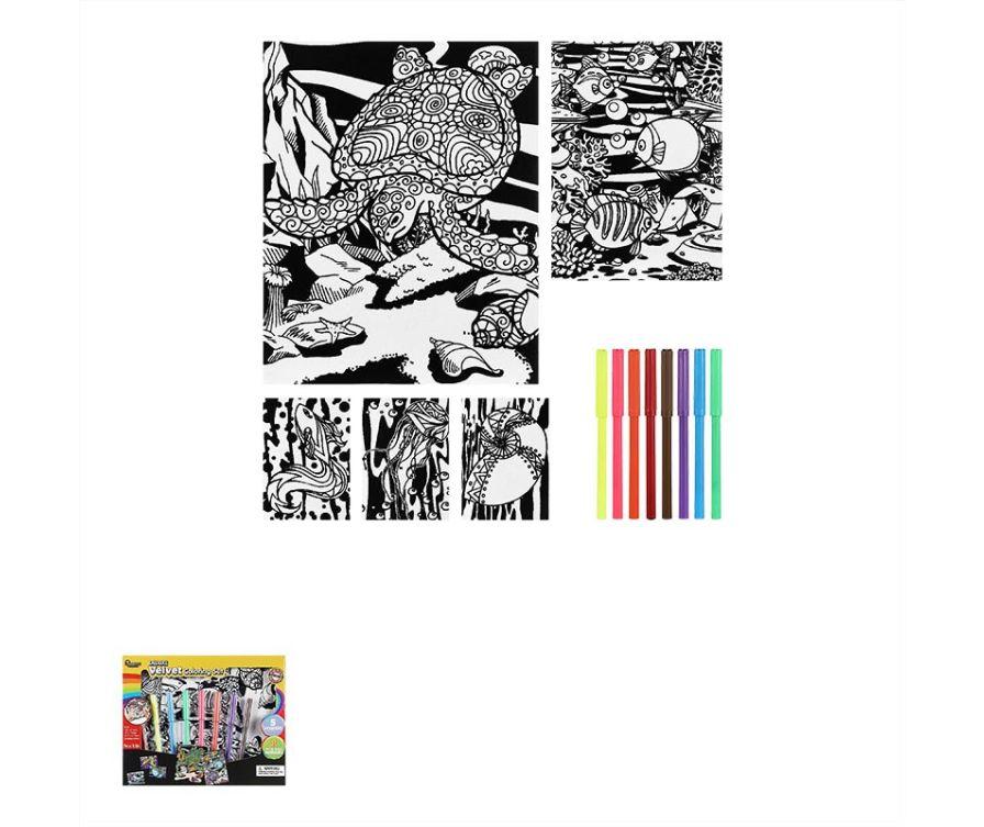 Раскраска  Velvet Coloring Set (океан)