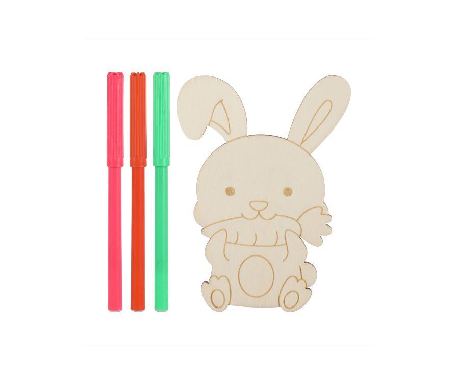 Игрушка раскраска Wooden (заяц)