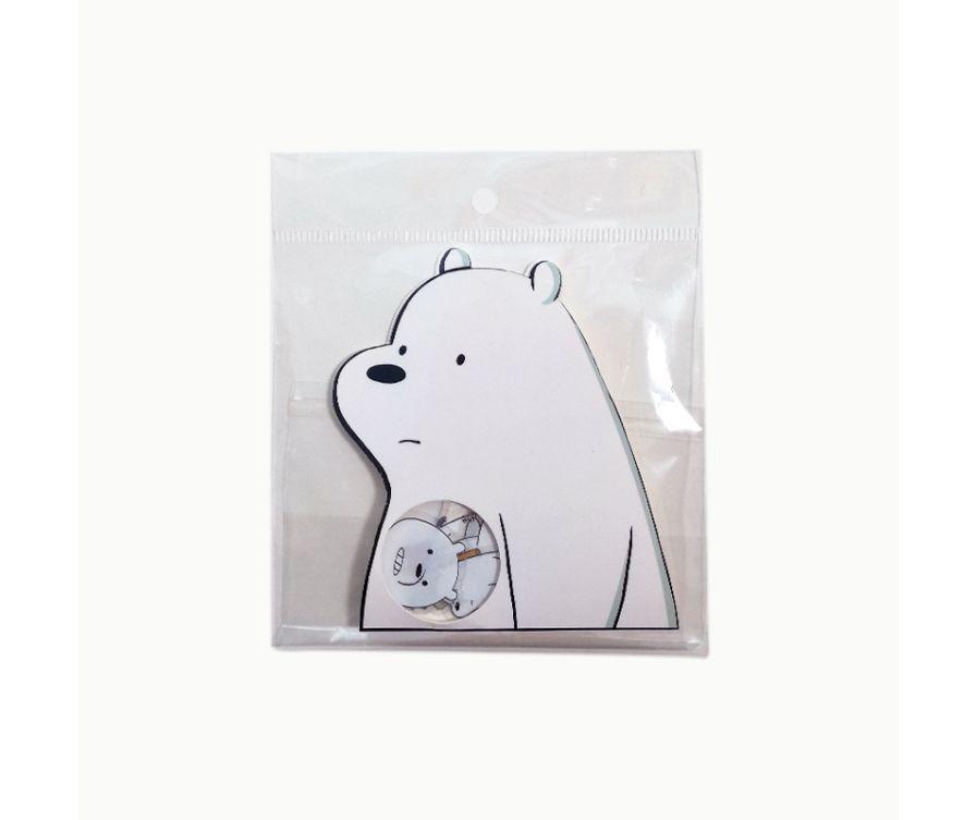 Стикеры, серия We Bare Bears (Белый медведь)