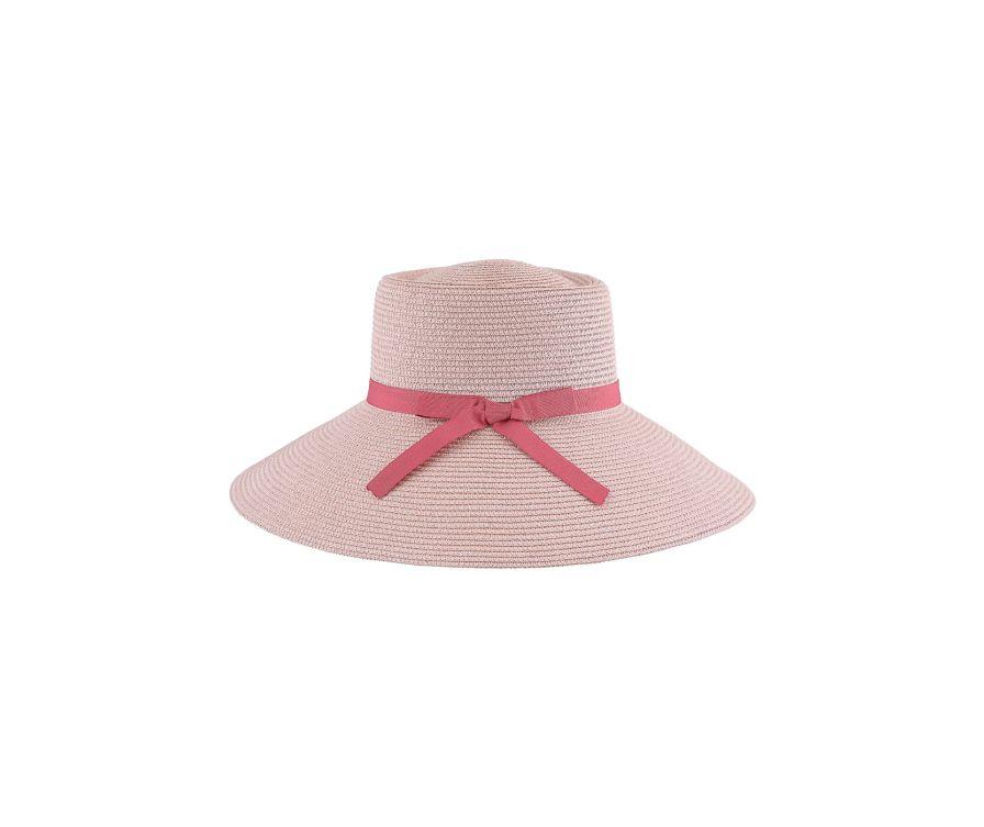 Элегантная соломенная шляпа для женщин Happy Vacation (розовый)