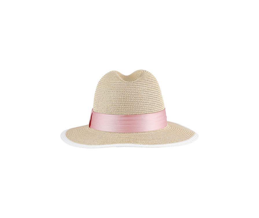 Соломенная шляпа в британском стиле (кремово-белый)