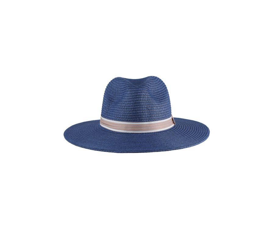 Соломенная шляпа в британском стиле (темно-синий)