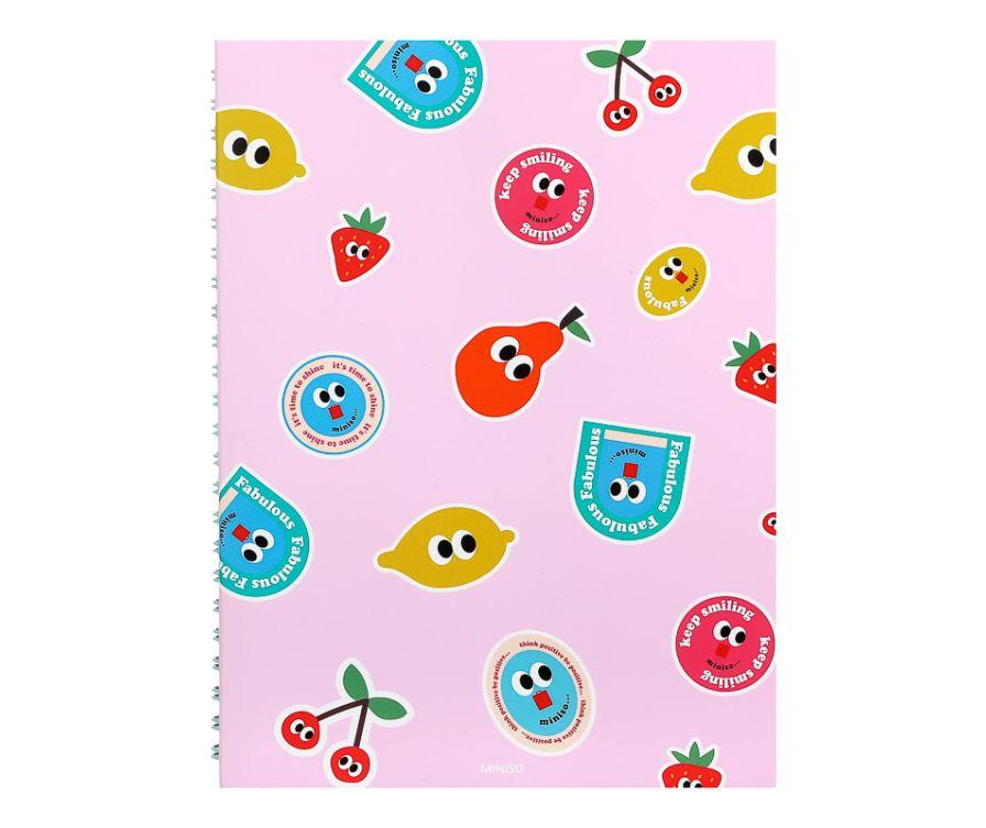 Блокнот А5, серия Fruity Fair (розовый)