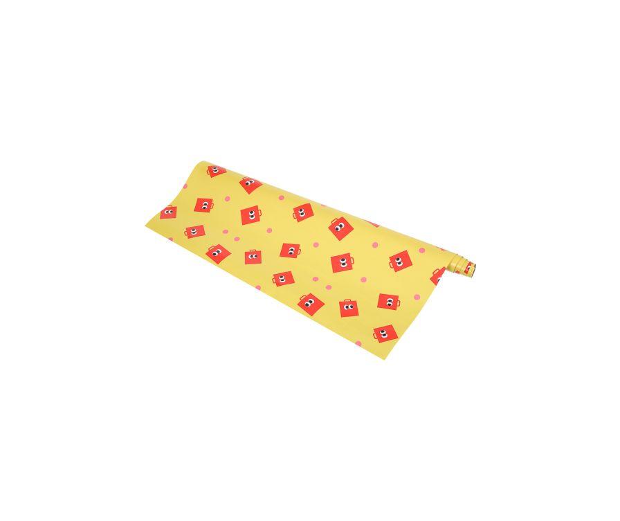 Упаковочная бумага Fruity Fairy (70 * 100см) желтый