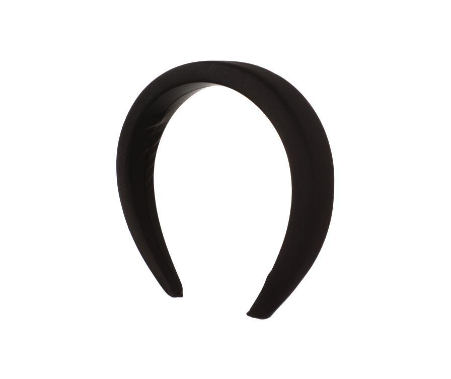 Широкий ободок для волос 4,5 см (черный)