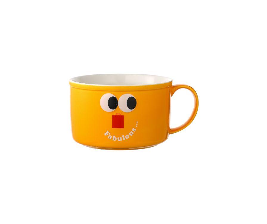 Чаша керамическая, серия Fruity Fair 800 мл (желтый)