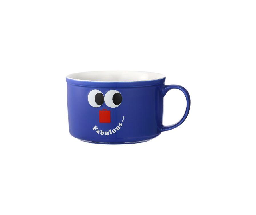 Чаша керамическая, серия Fruity Fair 800 мл (синий)