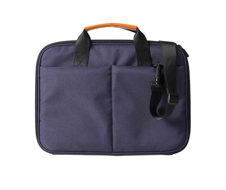 Компьютерная сумка с двойными молниями (темно-синий)
