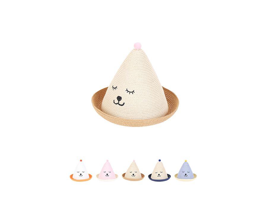 Детская милая соломенная шляпа