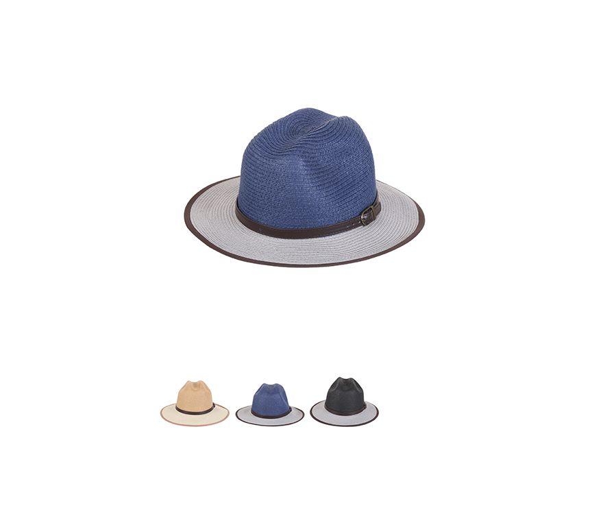 Мужская двухцветная соломенная шляпа