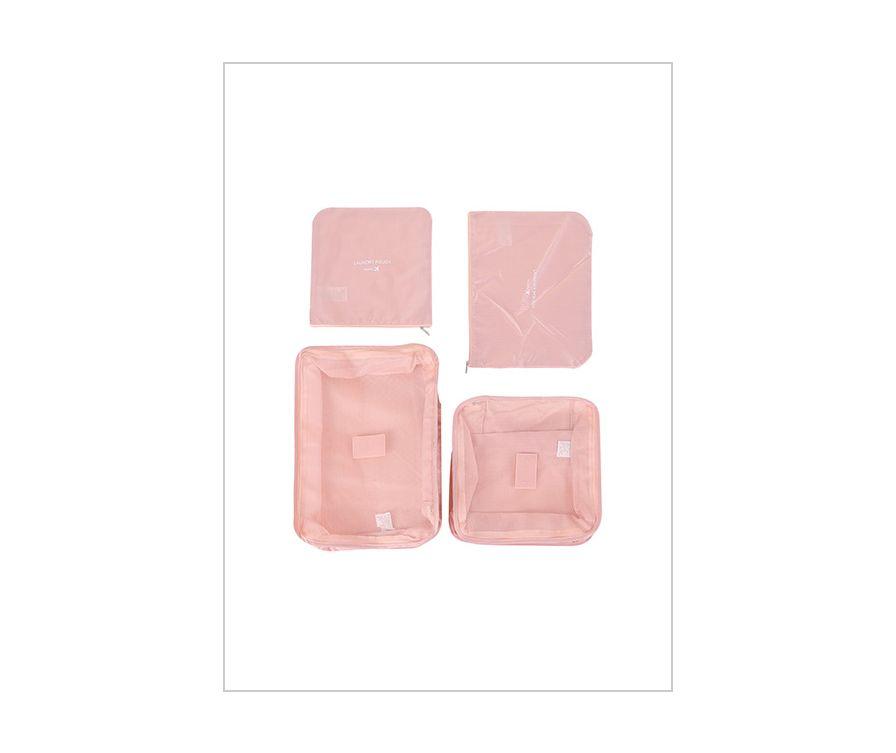 Складная сумка для путешествий 4 шт (розовая)